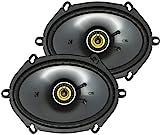KICKER CS Series CSC68 6 x 8 Inch Car Audio System Speaker, Black (2 Pack)