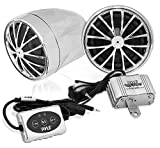 Pyle PLMCA31BT 400-Watt Motorcycle Weatherproof Bluetooth Sound System with Speakers, Amplifier and...