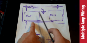 How to connect two amps together