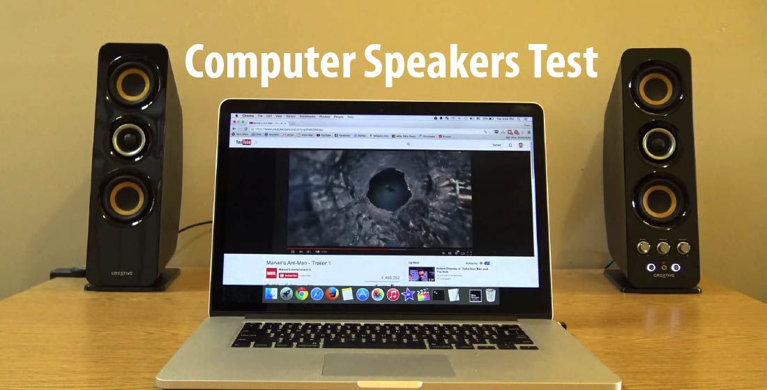 how to test computer speakers