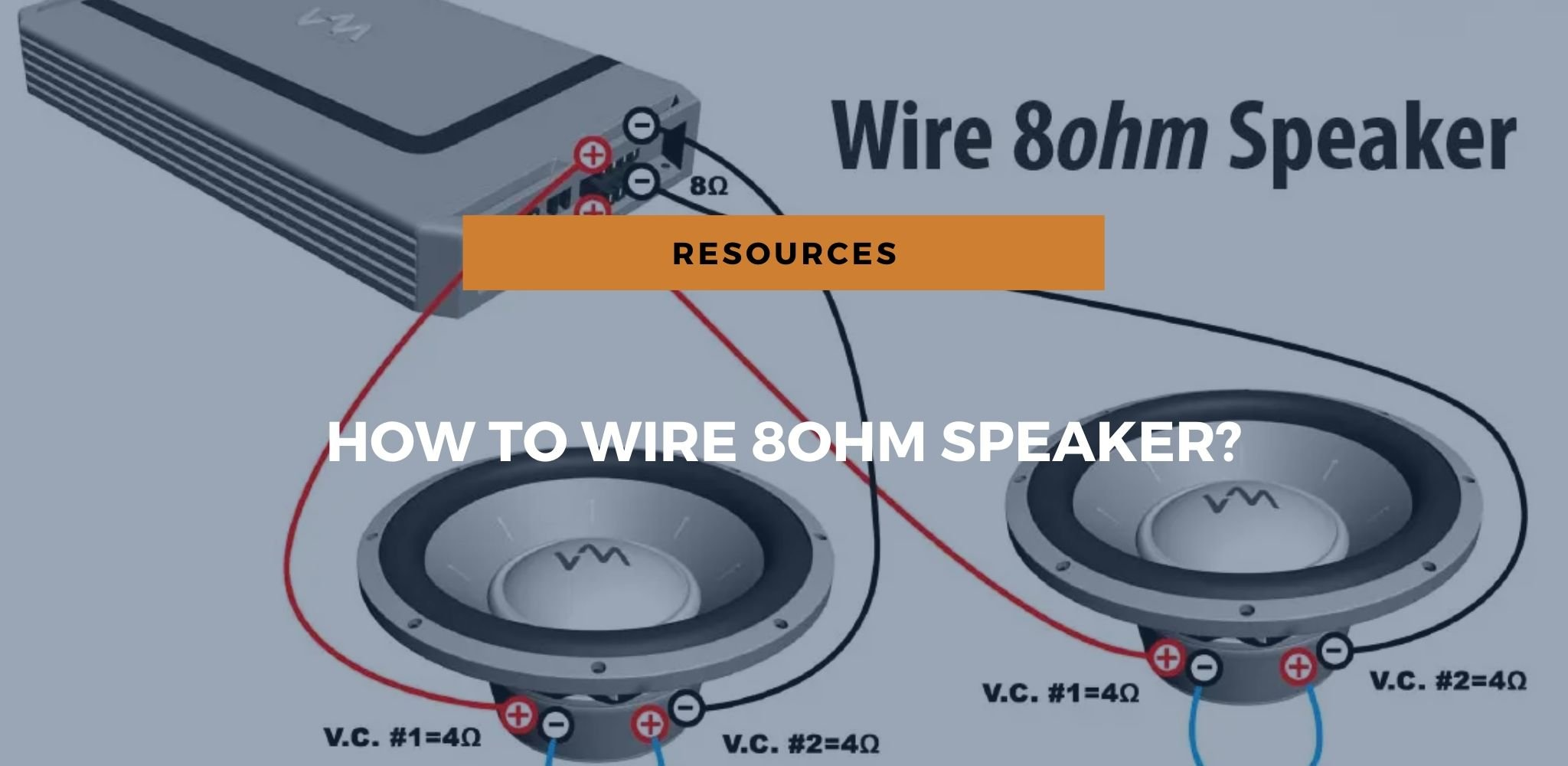 how to wire 8ohm speaker