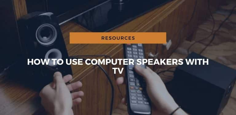 how to use computer speakers with tv