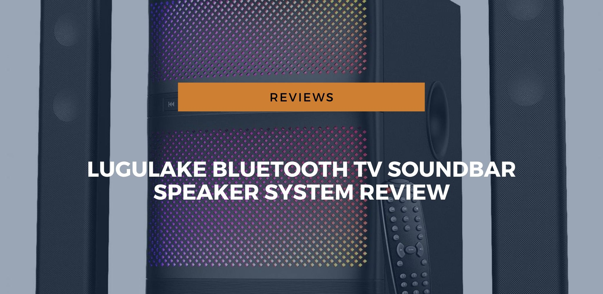 lugulake bluetooth tv soundbar speaker system review