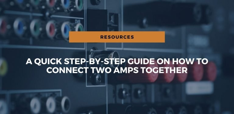 q quick step by step guide on how to connect two amps together