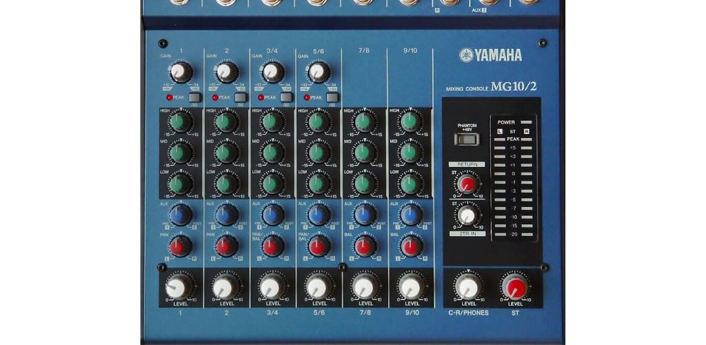 Yamaha MG102-Channel-Controls-How-to-use-audio-mixer-Speakergy