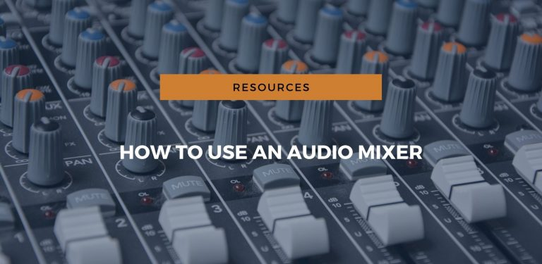 how to use audio mixer?