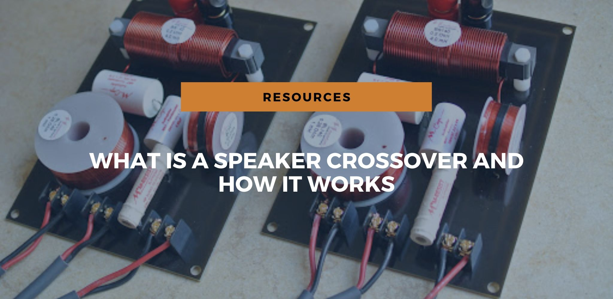 speaker crossover works